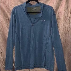 Orvis Long Sleeve Pullover Teal 1/4 Zip Men Large
